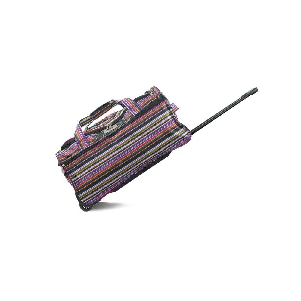 Pruhovaná cestovná taška na kolieskach INFINITIF, dĺžka 50 cm