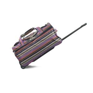 Pruhovaná cestovná taška na kolieskach INFINITIF, dĺžka 60 cm