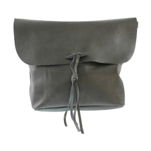 Sivá kožená kabelka Hawn