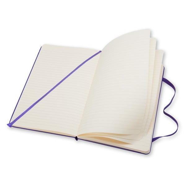 Fialový zápisník Moleskine Briliant Hard, veľký