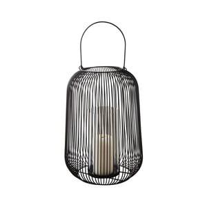 Čierny kovový lampáš Native Industrial, ⌀22,5 cm