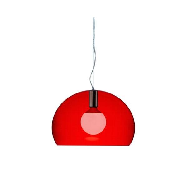 Menšie červené stropné svietidloKartellFly