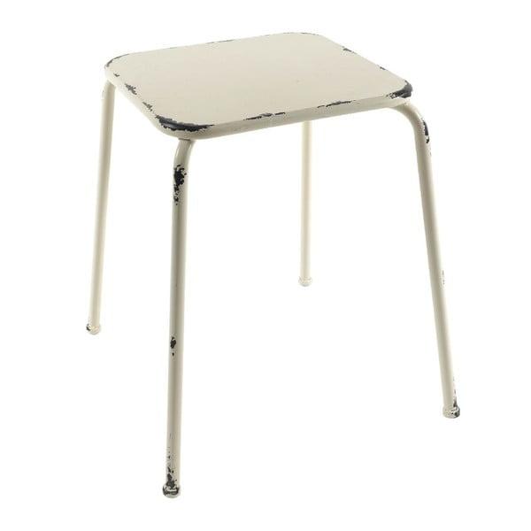 Kovová malá stolička Antique White