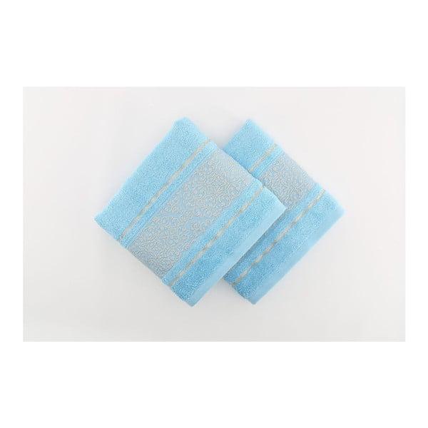 Sada 2 osušiek Giselle Blue, 70x140 cm