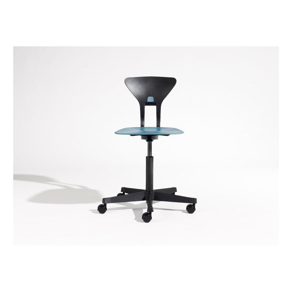 Modro-čierna detská otočná stolička na kolieskach Flexa Ray
