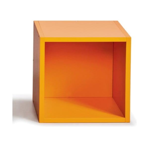 Úložný box (vhodný ku knižniciam), oranžový