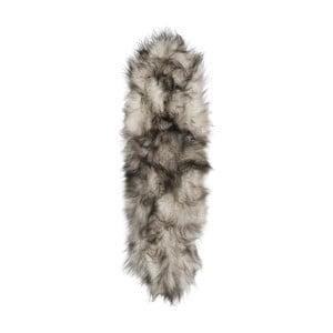 Sivo-biely kožušinový koberec s krátkym vlasom Arctic Fur Dara, 165 × 55 cm