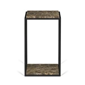 Odkladací stolík s doskou z hnedého mramoru TemaHome Forrest