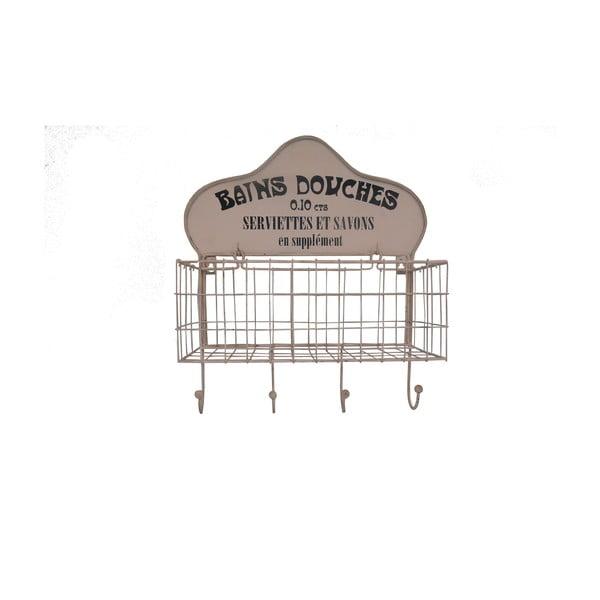 Nástenný košík so štyrmi háčikmi Antic Line Bains