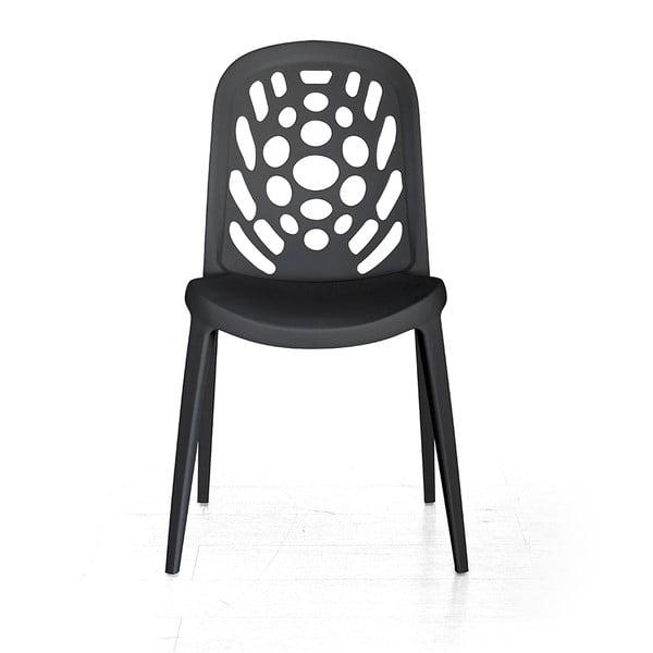 Stolička Allegra, čierna