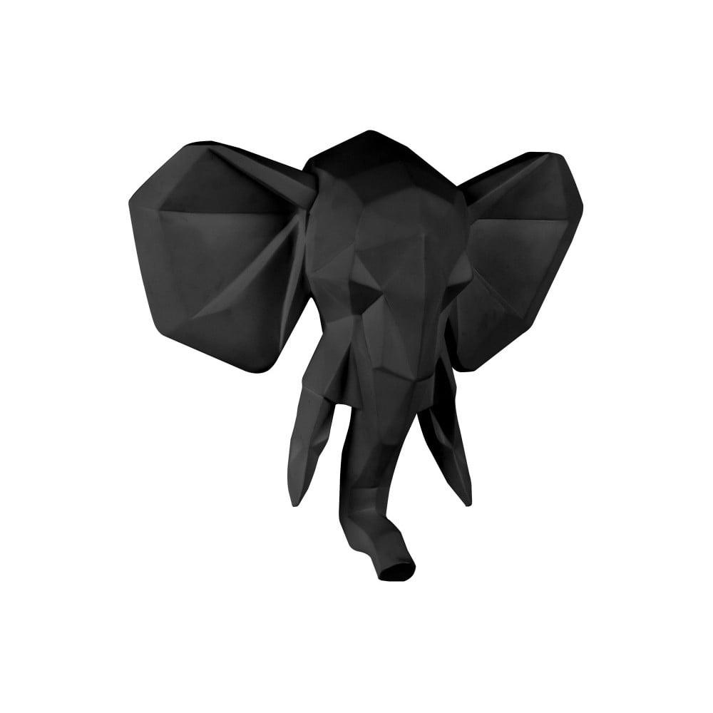 Matne čierny nástenný vešiak PT LIVING Origami Elephant