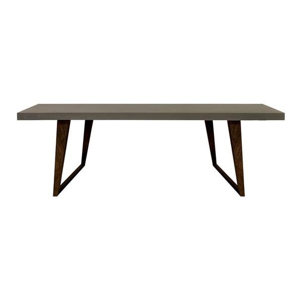 Betonový jedálenský stôl s nohami z mangového dreva Furnhouse Hamburh