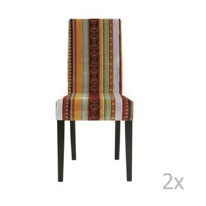 Sada 2 jedálenských stoličiek s podnožou z bukového dreva Kare Design Econo British