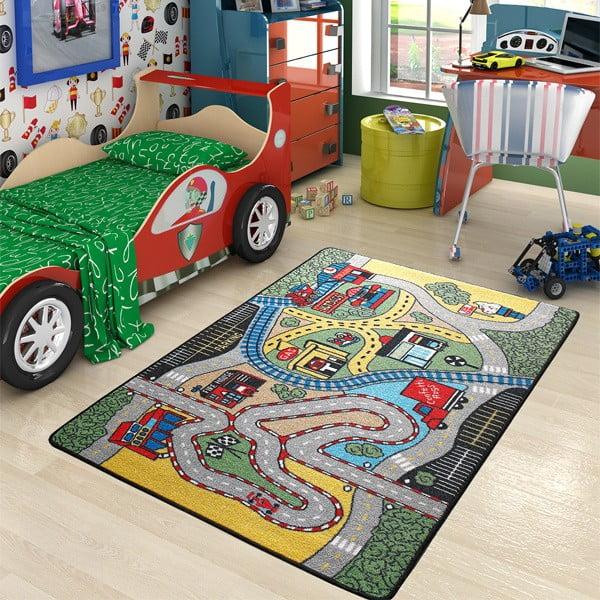Detský koberec Race, 133x190 cm
