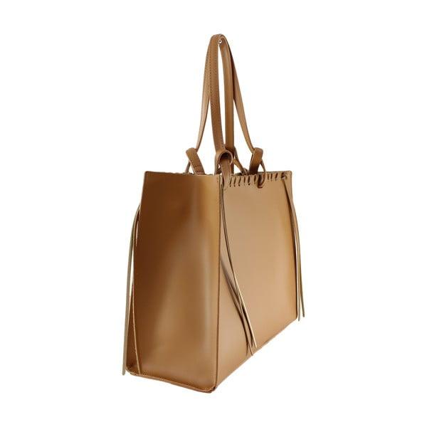 Kožená kabelka Linda, hnedá