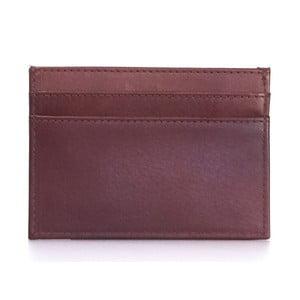 Červené kožené puzdro na karty a vizitky O My Bag Mark´s