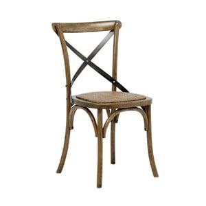 Sada 2 hnedých jedálenských stoličiek Interstil Vintage