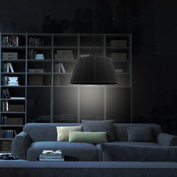 Čierne závesné svietidlo Sotto Luce KAMI, Ø 54 cm