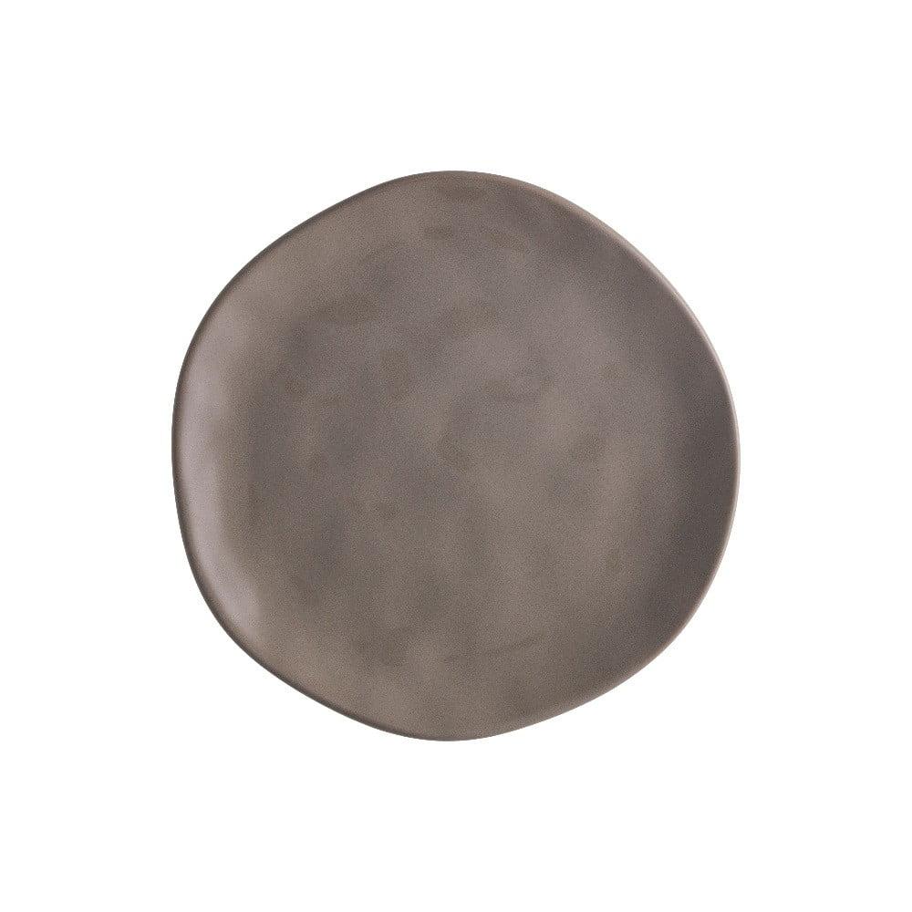 Hnedý porcelánový tanier na pizzu Brandani Pizza, ⌀ 20 cm