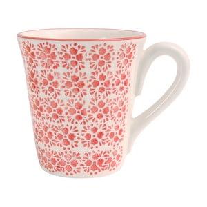 Červený kameninový hrnček Côté Table Floral