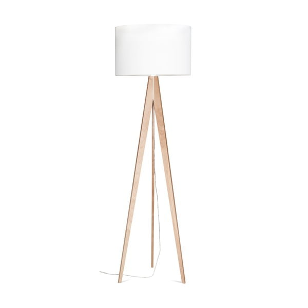 Stojacia lampa Artist White/Birch, 150x42 cm