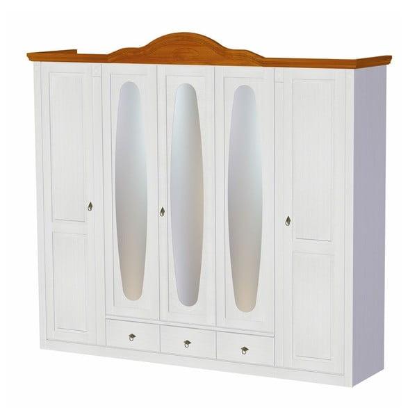 Šatníková skriňa Mmi White, 255x60x232 cm