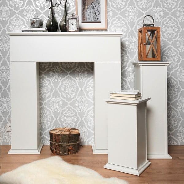 Stolík Essex 89 cm, biely