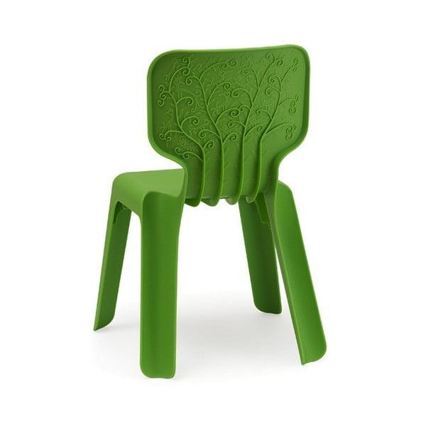 Detská zelená stohovateľná stolička Magis Alma