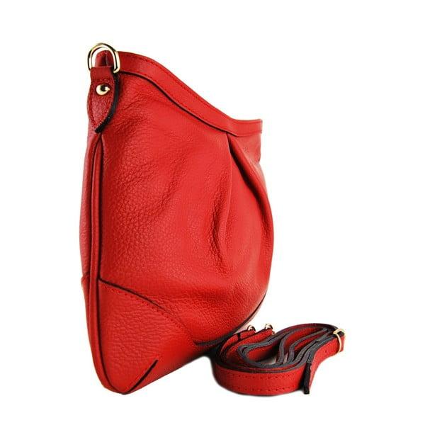Kožená listová kabelka Maltisa Rosso