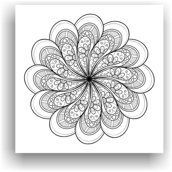 Obraz na vymaľovanie Color It no. 95, 50x50 cm