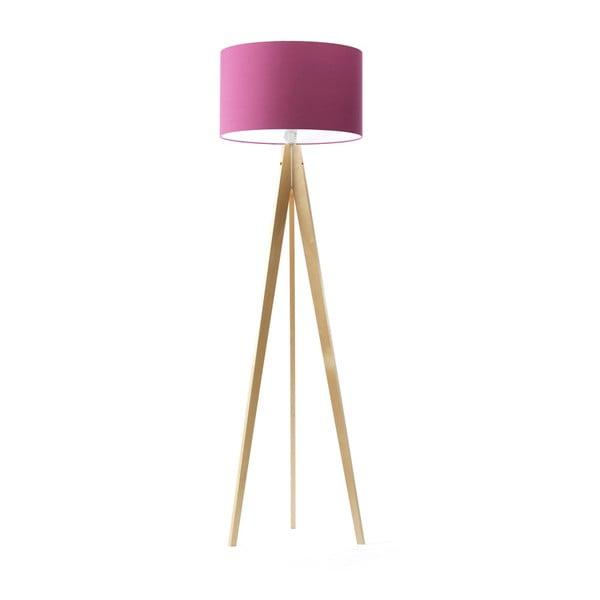 Fialová stojacia lampa Artist, breza, 150 cm