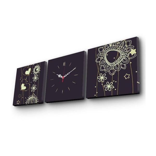 Obrazové hodiny Abstraktné kvety