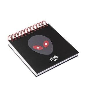Čierny linajkový zápisník TINC Allien