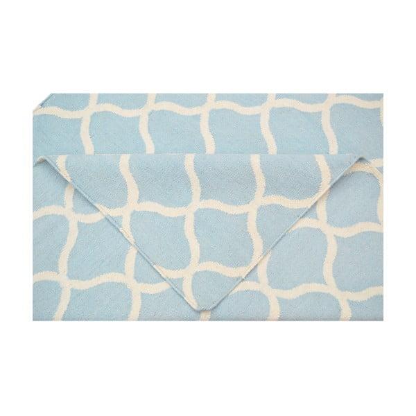 Svetlomodrý vlnený koberec Bakero Alize,140x200cm