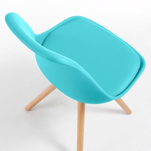 Sada 4 modrých jedálenských stoličiek La Forma Lars