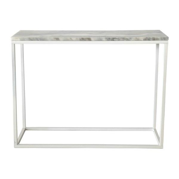 Mramorový konzolový stolík s bielou konštrukciou RGE Accent, výška 75 cm
