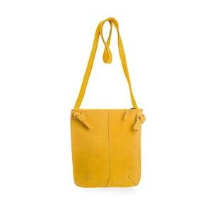 Žltá kožená kabelka cez rameno Woox Mendica Lutea