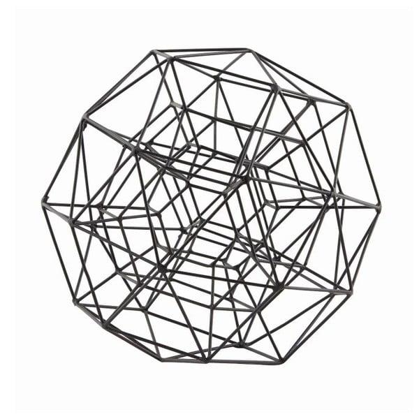 Dekorácia Globe Black, 21 cm