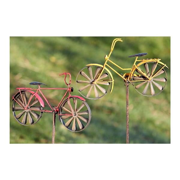 Sada 2 záhradných dekorácií Bikes