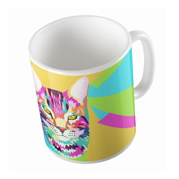 Keramický hrnček Butter Kings Pop Art Cat, 330 ml