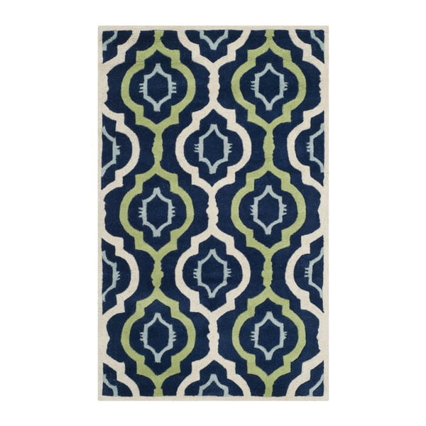 Ručne vyšívaný koberec Mykonos, 91x152 cm