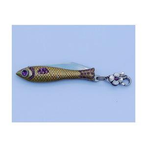 Český nožík rybička Provence s kryštálmi, zlatá