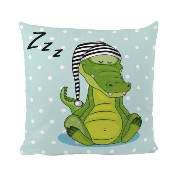 Vankúš Sleepy Croco, 50x50 cm