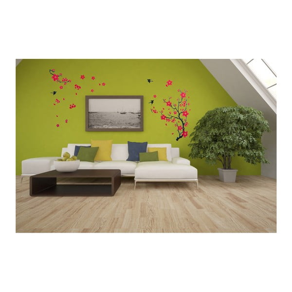 Dekoratívna samolepka Kvitnúca vetva, 140x90 cm