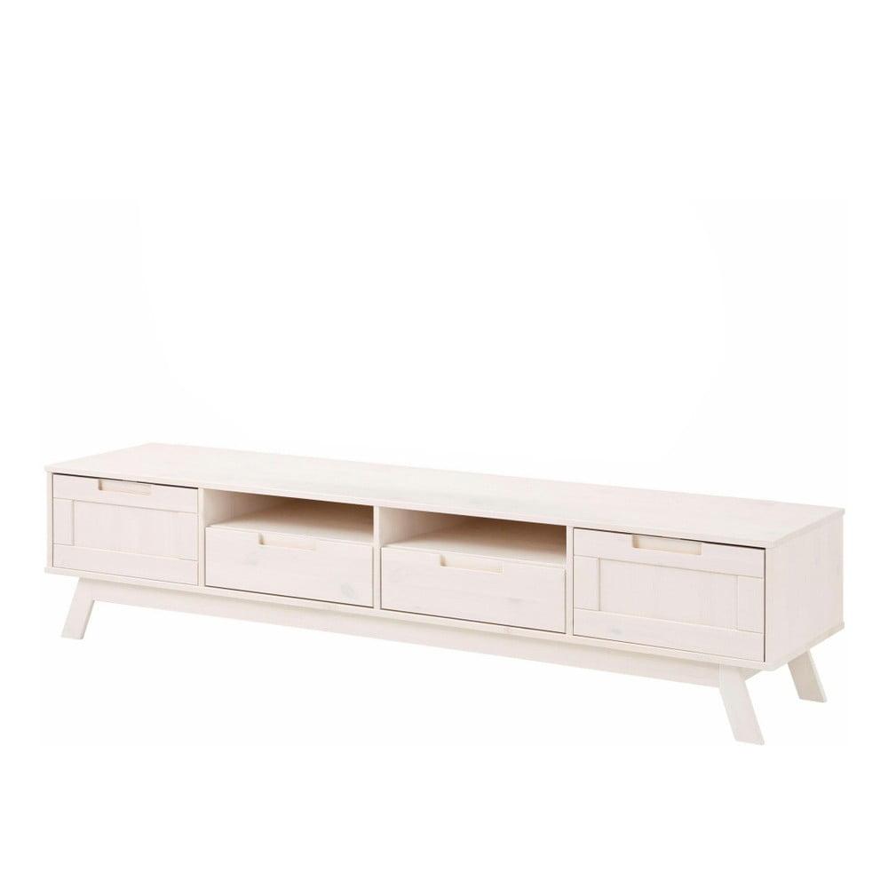 Nízka biela drevená skrinka Støraa Ollie