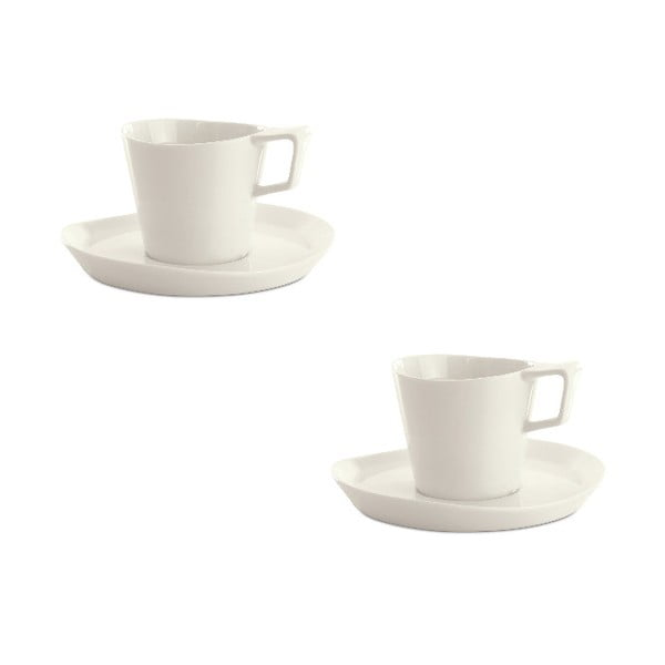 Sada 2 šálok s tanierikomEclipse Tea, 240 ml