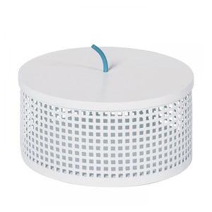 Biely úložný box OK Design Boite, Ø20 cm
