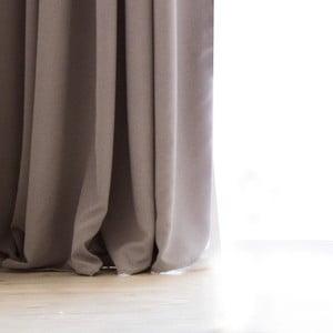 Sivohnedý záves DecoKing Pierre, 140 x 270 cm