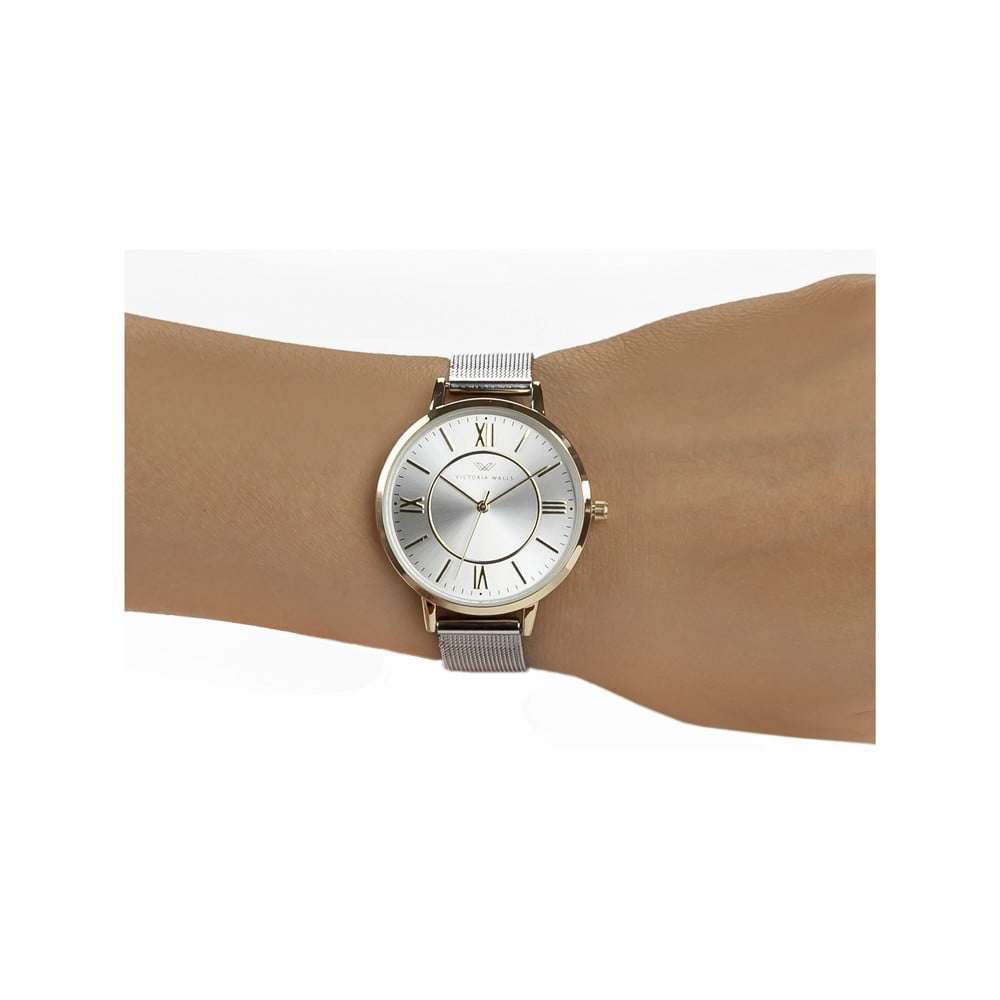 f0998b6b8 ... Dámske hodinky s remienkom z chirurgickej ocele Victoria Walls Mania ...