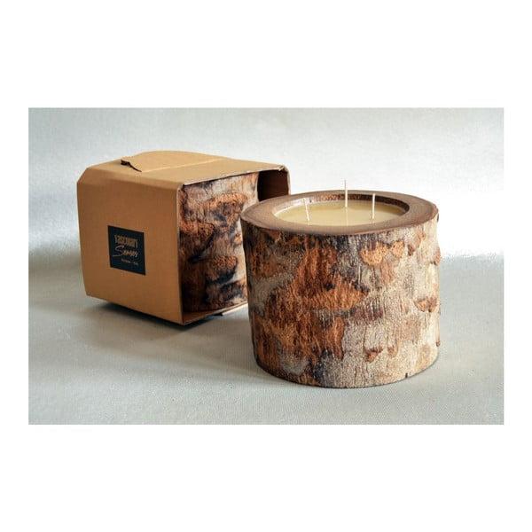 Palmová sviečka Legno Ebony s vôňou medu, 100 hodín horenia